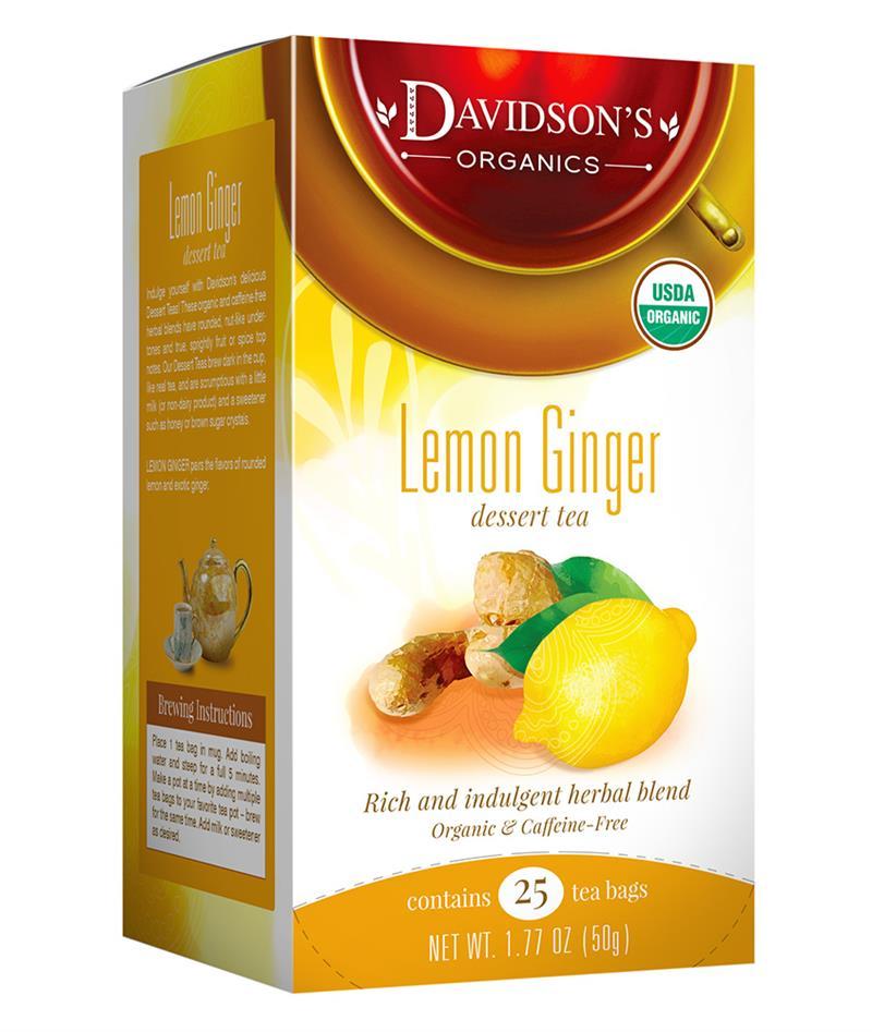 lemon ginger tea bag