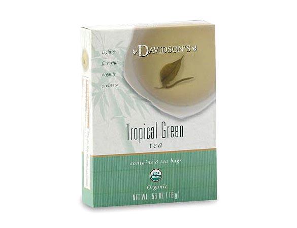 Tropical green tea bags